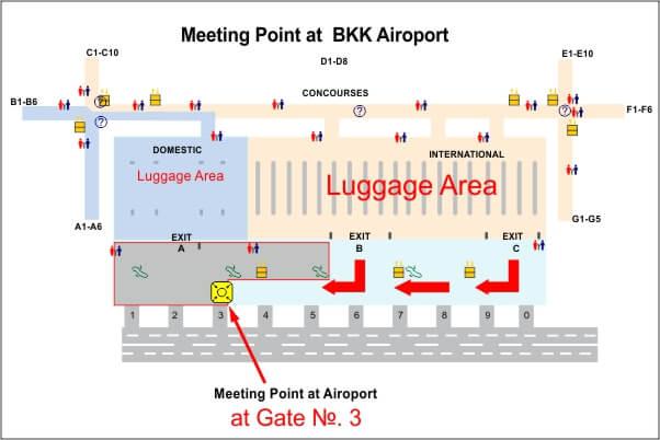 Suvarnabhumi international airport meeting point